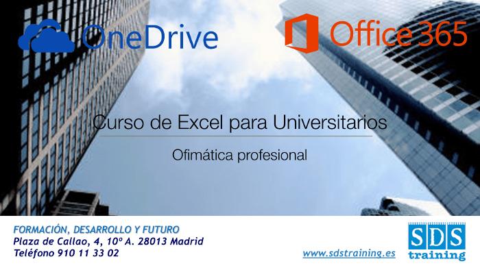 Curso Excel Madrid para Universitarios: compartir en OneDrive